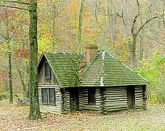 Log Hunting Cabin Photo
