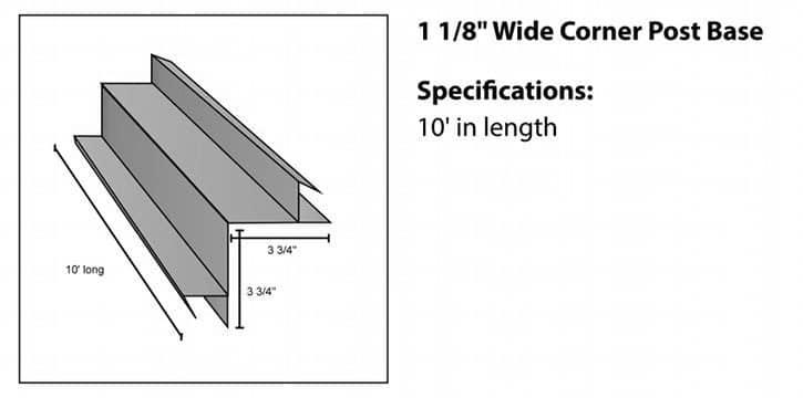 Corner Base for Steel Log Siding