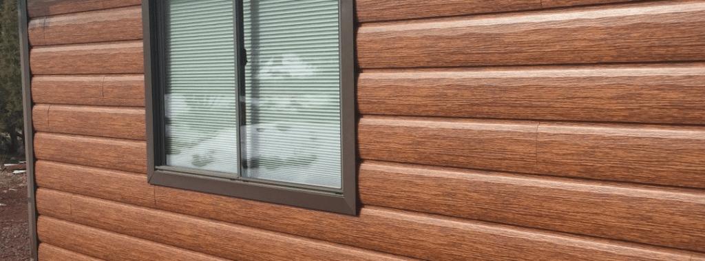 Wood siding alternatives tru log siding for Real wood siding