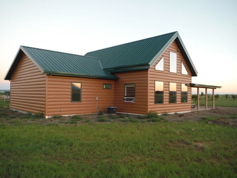 Steel log siding log home siding cabin siding trulog for Metal wood siding