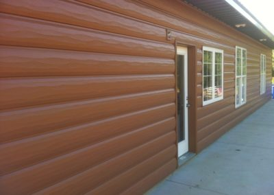 A job we shipped to Kansas that is our cedar siding and cedar accessories