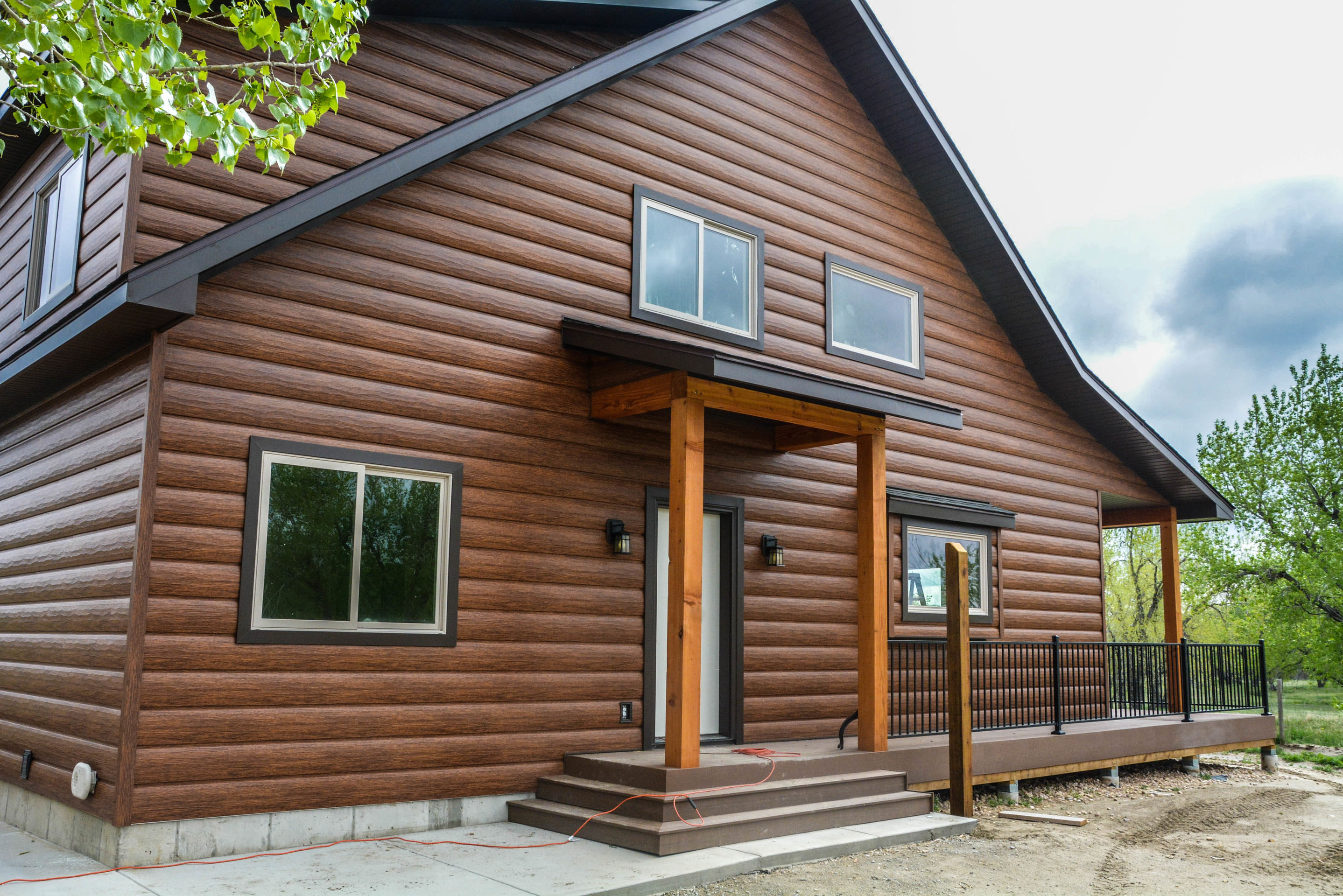 Red Cedar Cabin Siding Maintenance Free Log Siding Log