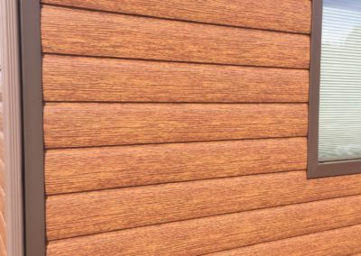 Red Cedar Steel Log Siding