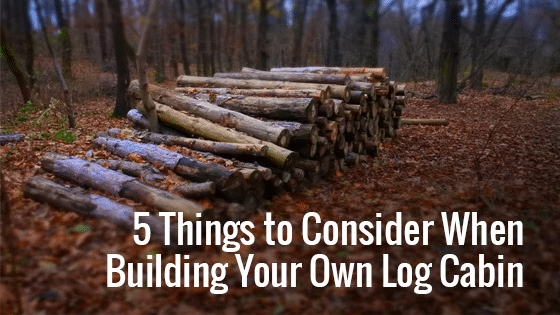 Building Your Own Log Cabin Trulog Siding