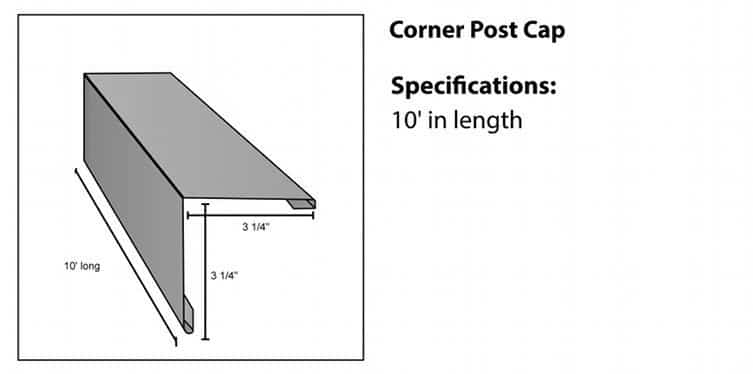 Corner Cap for Steel Log Siding