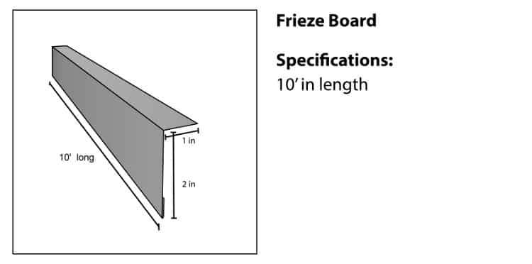 Frieze Board Accessory for TruLog Steel Siding