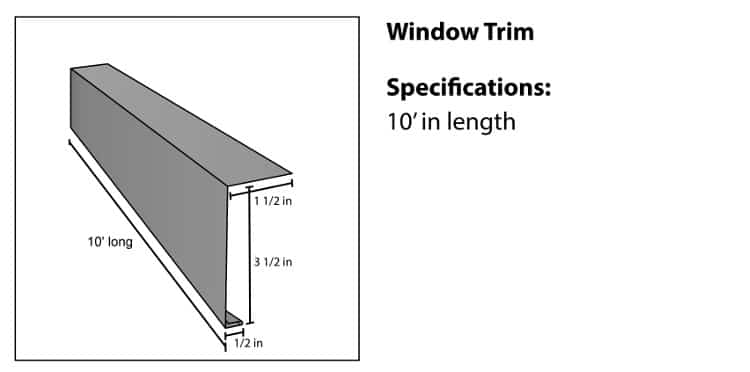 Window Trim for Steel Log Siding