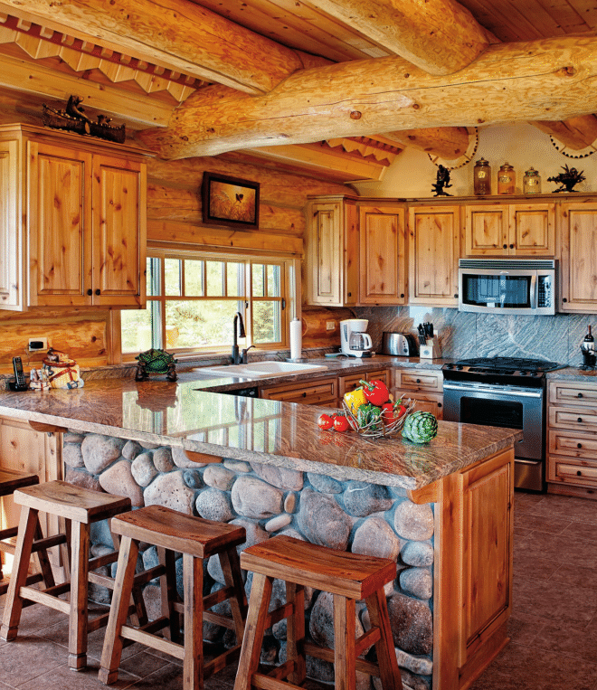 Home Decor Kitchen Ideas: 19 Log Cabin Home Décor Ideas