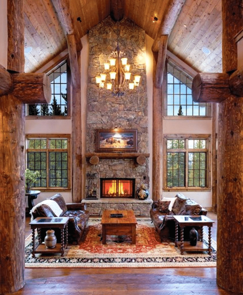 Stone Home Decor : Log cabin home décor ideas