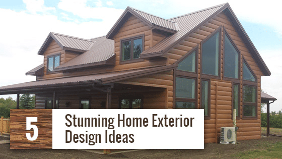 Exterior Home Design Ideas - Tru Log Siding