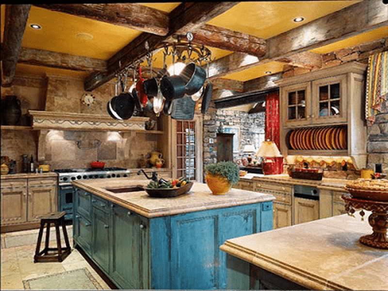 Log Cabin Kitchen Design 1