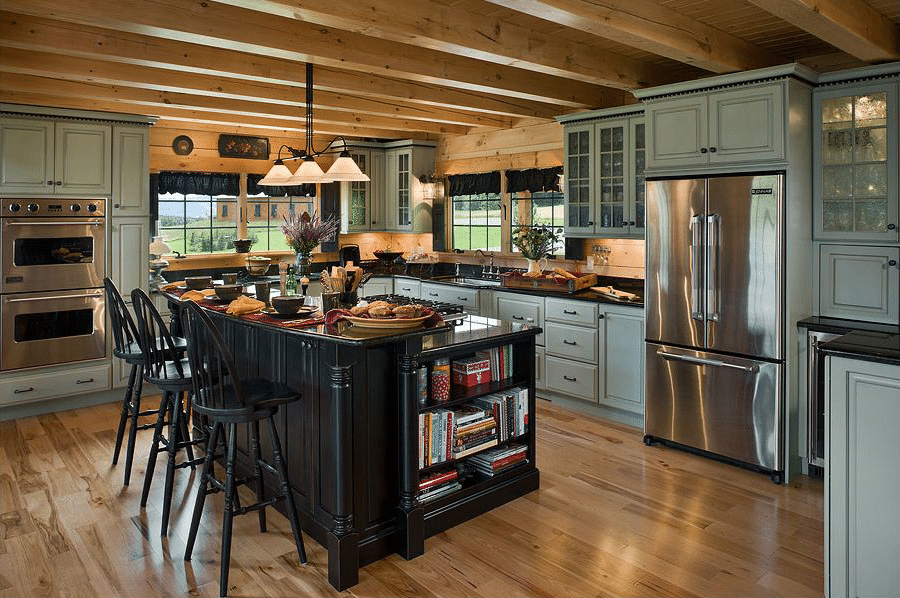 Log Cabin Kitchen Design 11
