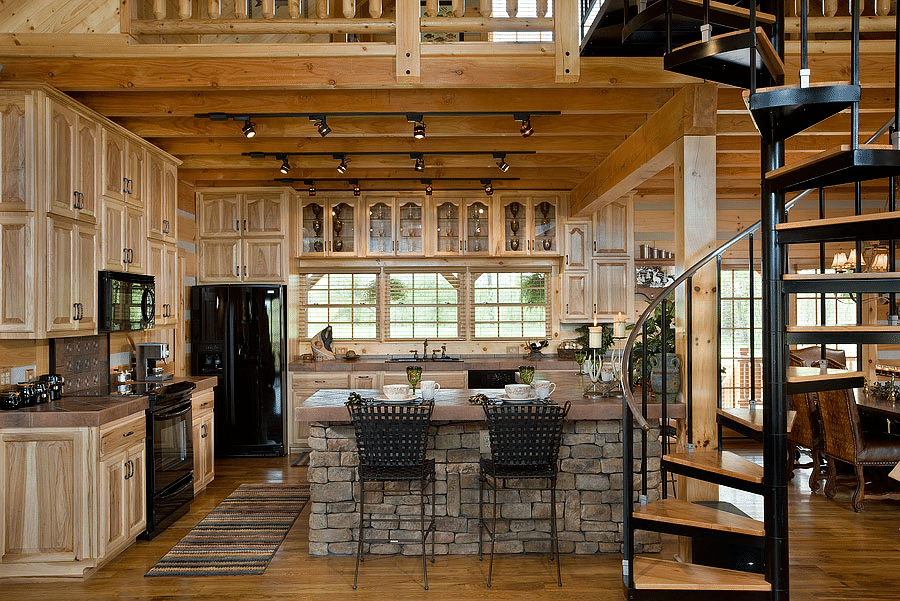 Log Cabins: 17 Amazing Log Cabin Kitchen Design To Inspire ...
