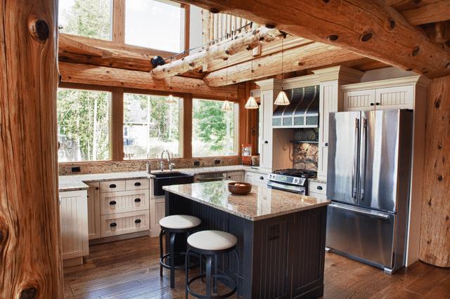 Log Cabin Kitchen Design 15