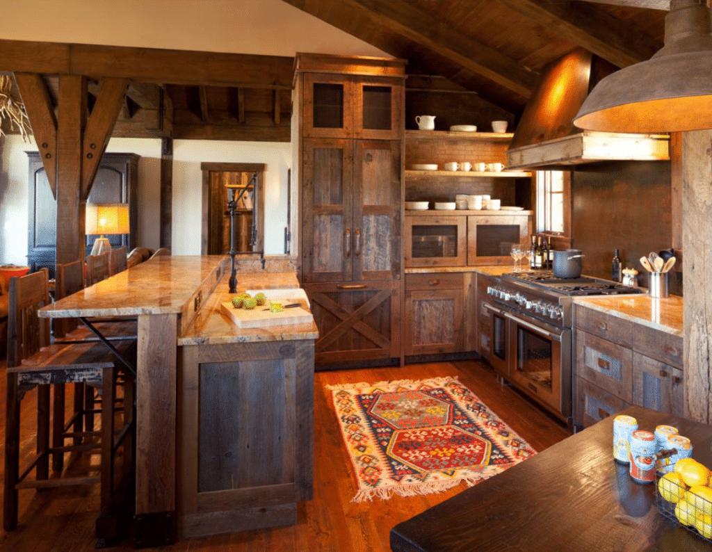 Log Cabin Kitchen Design 17