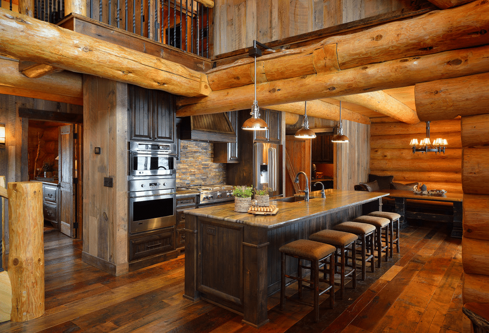 17 Log Cabin Kitchen Designs That Will Make You Want to Renovate