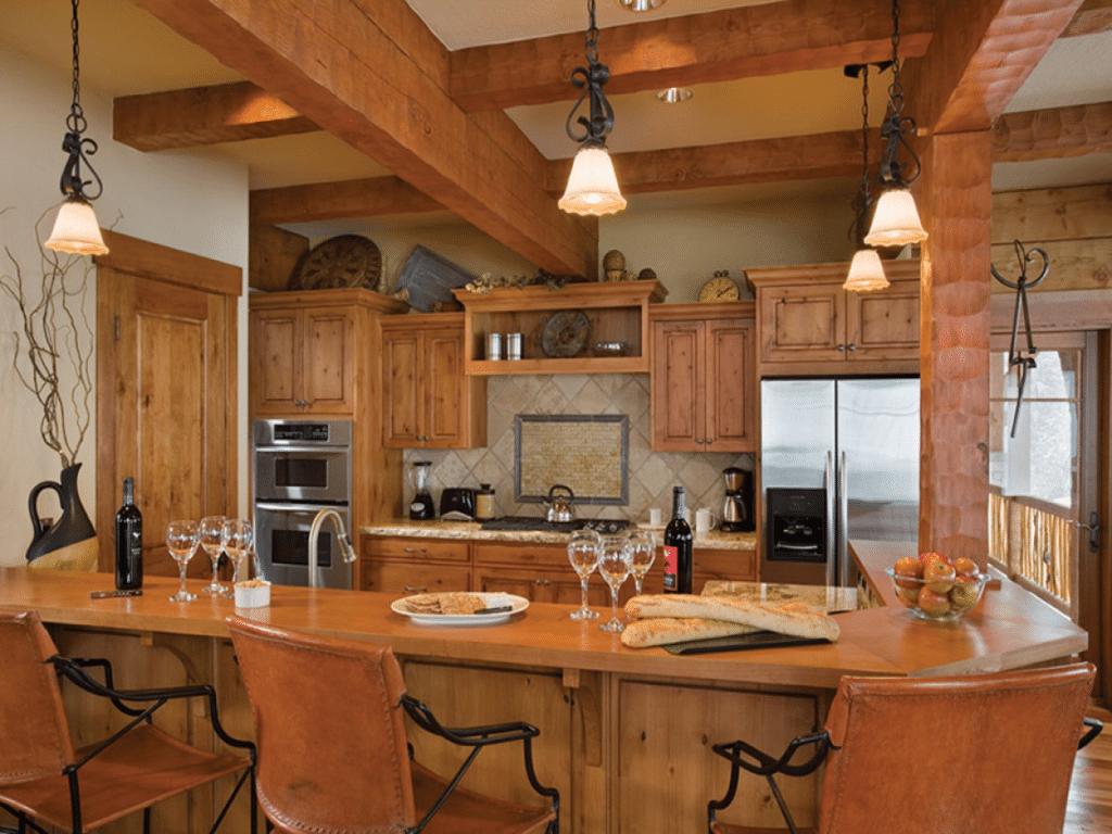 Log Cabin Kitchen Design 8