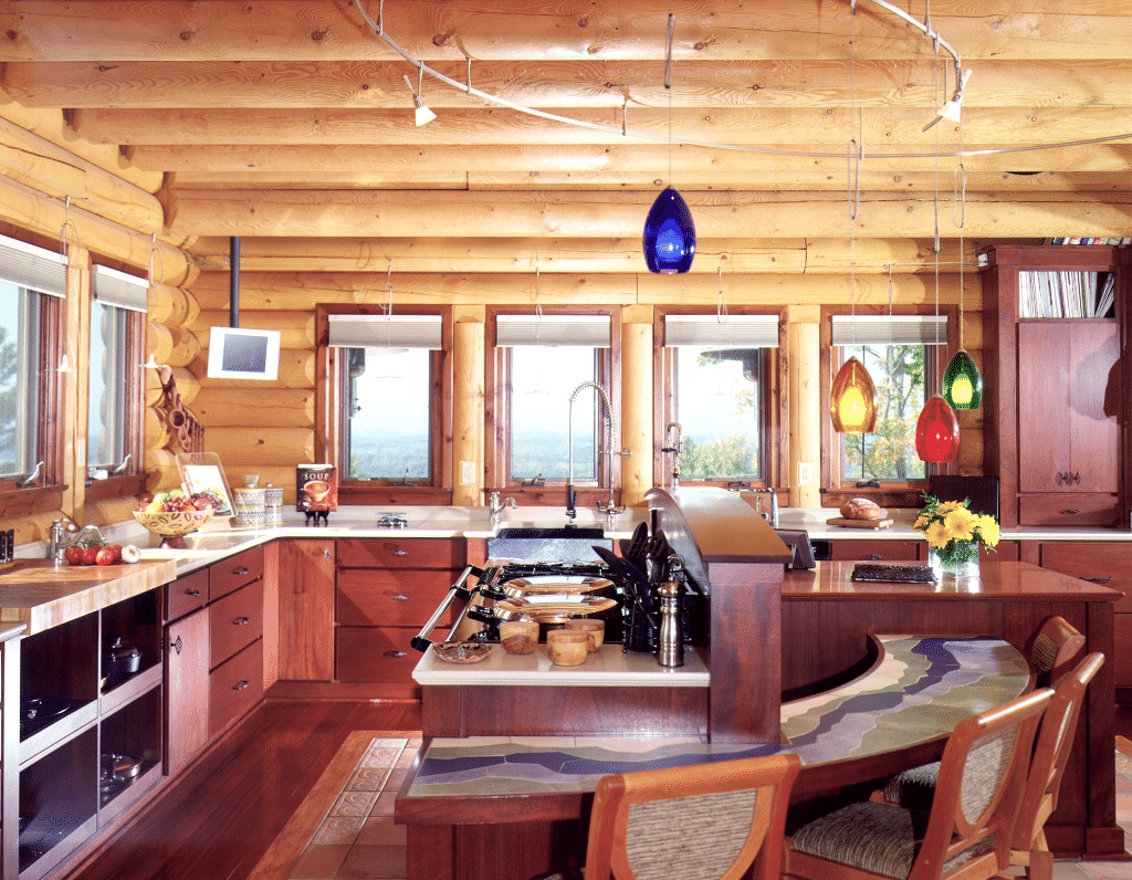 Log Cabin Kitchen Design 9