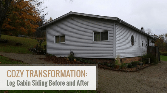Cozy Transformation: Log Cabin Siding Before and After