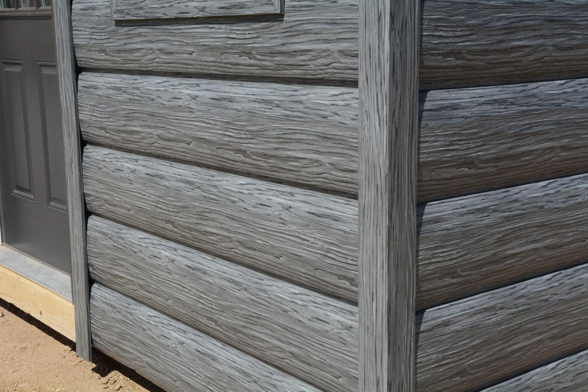 Weathered Gray Gallery Tru Log Siding