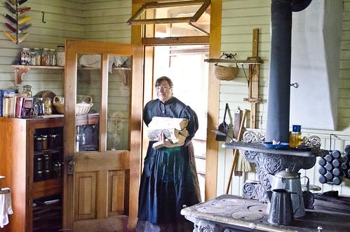 log cabin kitchen photo