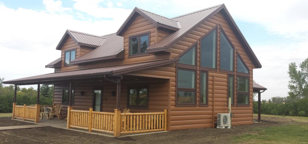log cabin metal roof