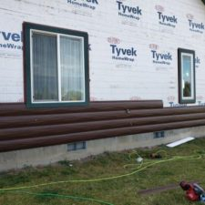 Dark Walnut Log Siding