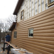 Ponderosa Pine Steel Log Siding