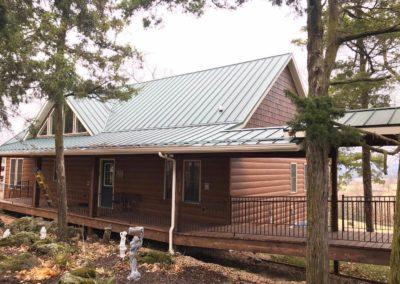 Western Cedar Steel Log Siding