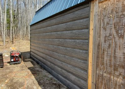 Weathered Gray Log Siding
