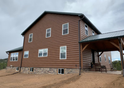 Western Cedar Log Steel Siding
